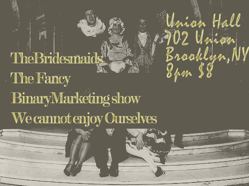 Union Hall October 8th 2010 binary marketing show